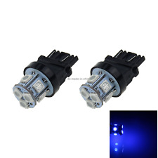 2x Blue AUTO 3157 Brake Lamp Turn Signal Light 8 5050 SMD LED 3057 3155 F001