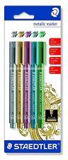 Steadler Metallic marker pen 8323-S BK 5 5 color set Japan Import free shipping