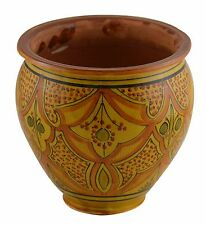 Moroccan Mediterranean Flower Pot Ceramic Terracotta Planter Plant Mexican