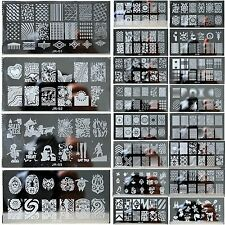 20 Style Nail Art Pochoir Stamping Template Plaque Ongle Image Acier Stamp Décor