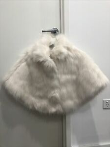 faux fur jacket/poncho/cape - One Size Fits All