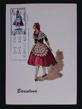SPAIN MK 1967 TRAJE BARCELONA TRACHT COSTUME MAXIMUMKARTE MAXIMUM CARD MC c6082