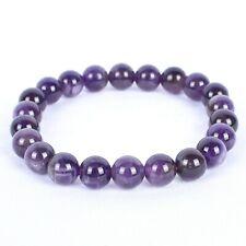 Anxiety Relief & Reiki Healing Amethyst Stone Beaded 7-8'' Elasticated Bracelet