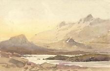 Künstlerische Aquarell-Malereien auf Leinwand von 1900-1949