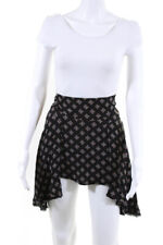 Free People Womens Above Knee Skirt Black Brown Printed Size 0