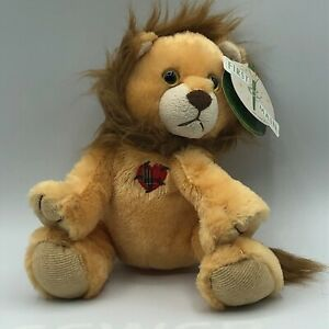 """First and Main """"Mending Little Hearts"""" Brown Soft Plush Lion 10"""" with Tags"""
