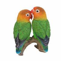 Love Birds Lifelike Garden Ornament Indoor Outdoor Real Life Wedding NEW