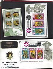 Niue sc#363a,375 (1982-3) Souvenir Sheets MNH  + #375 FDC