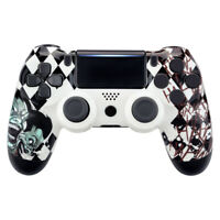 Joker Patterned Faceplate Front Housing Shell for PS4 Slim Pro Game Controller