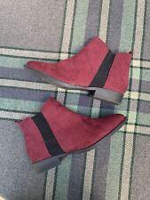 Ladies Primark Chelsea Ankle Boots Wine Faux Suede Eur 40/41 UK 7
