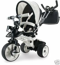 Evolutionary Tricycle Boy Baby White From 8 Months Wheels Non Slip Aluminium