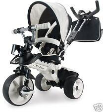 Tricycle Évolutif Enfant Bebé Blanc En Provenance 8 Mois Roues Anti-dérapant