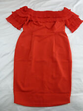CITY CHIC L 20 NWT RRP $129.95 DRESS RUFFLED UP RED