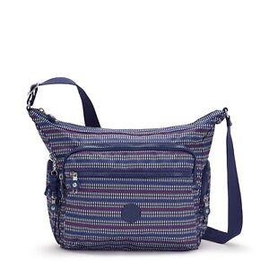 Kipling Gabbie Medium Shoulder Crossbody Bag BLUE GEO PRINT FW21 RRP £93