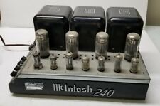 Vintage MCINTOSH MC240 Tube Amplifier, AS IS, Parts/Repair/Restoration