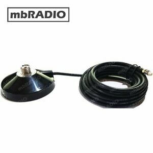 SO239 MAGNETIC BASE WITH 4.5M CABLE *OPTIONAL BNC or PL259 Adaptor *FREEPOST*