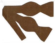 Brown Bow tie / Light & Dark Brown Houndstooth Bow tie / Self-tie Bow tie