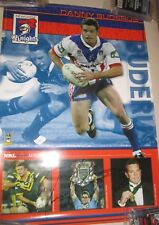 Danny Buderus Newcastle Knights Player Poster +COA/Proof (2084)