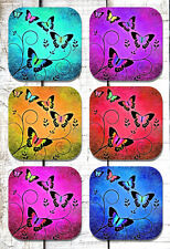 Butterfly Drink Coasters x 6 Non fading