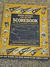 Vintage Official Full Season Football Records Scorebook