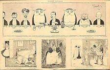 """HUMOUR """" CARNET MONDAIN """"  DESSINS DE GERBAULT FAIVRE BAILLY 1898"""