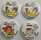 Vintage Badge Plastic Back 54mm - I've Helped Great Ormond Street x 4