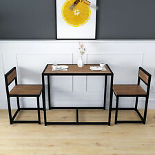 Small Wooden Dining Set 2 Seater Kitchen Furniture Breakfast Table and Chairs