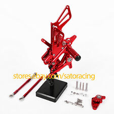 For Honda CBR600RR 2007-2016 CNC Rear Sets Foot Pegs 2008 2009 2010 2011 Red