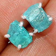 Neon Blue Apatite 925 Sterling Silver Earring - Stud Jewelry BE18570