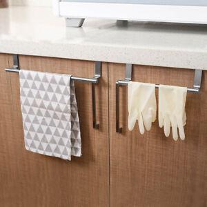 Over The Door Hooks Wash Room Hanger Clothes Towel Storage Holder Kitchen Tool