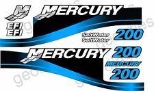Blue MERCURY 200 motore fuoribordo quattro tempi MOTORE KIT ADESIVI DECAL