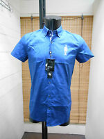 CAMICIA UOMO SLIM ANTONY MORATO ART.MS3342 COL.BLUETTE MANICA CORTA CASUAL JEANS