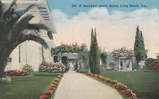 Old Postcard A172 Divided A Beautiful Court Scene Long Beach California Kashower