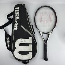 Wilson K Factor Arophite Black Kontrol Tennis Racquet K Zero 4 1/4 Grip With Bag
