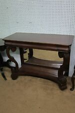 Antique Mahogany Empire Console With Mirrored