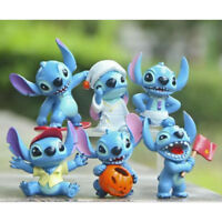 Lilo And Stitch Cartoon Movie 6 PCS Action Figure Cake Topper Kids Doll Gift Toy