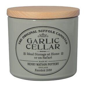 Henry Watson - Garlic Keeper/Pot/Cellar/Jar - Dove Grey