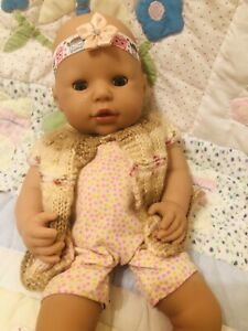 14 In Bath Time baby Chou Chou In OutFit Extra Bath Robe In  Clean condition