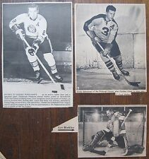 3 Pittsburgh Hornets/Penguins Photos Clipped from Newspapers LES BINKLEY, ETC