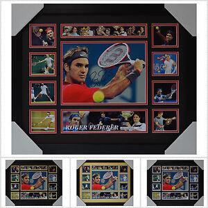 Roger Federer Signed Framed Memorabilia Limited Edition V2 Multiple Variations