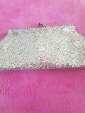 silver sequin clutch  bag by mikey