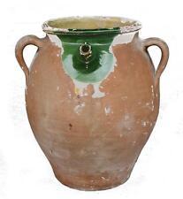 Cruche en terre cuite vernissée à anse époque XIXème