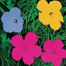 ANDY WARHOL - FLOWERS (Lg), 1970 - Art Print Poster Pink, Yellow, Blue 38x38