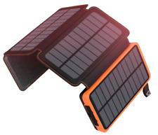 Solar Charger 25000mAh Portable Power Bank 2.1A 4 Battery Panels  Waterproof