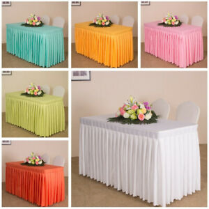 47' Home Tablecloth Table Skirt Cover for Wedding Banquet Party Decor