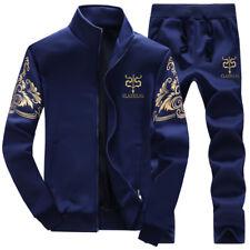 Chic Winter Warm Sports Jacket+Pants Velvet Tracksuit Baseball Men Outwear Suits