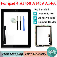 For iPad 4 A1458 A1459 A1460 Touch Screen Digitizer Glass Lens Replacement Black