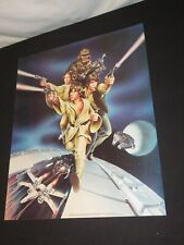 Vintage Star Wars 1978 Poster Original Promo Poster Luke Leia Han Solo chew