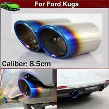 2pcs Blue Exhaust Muffler Tail Pipe Tip Tailpipe Emblem For Ford Kuga 2013-2018
