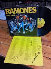 RAMONES ROAD TO RUIN BRAZIL LP VG/VG PUNK CLASH PISTOLS AUTOGRAPHED SIGNED by 4